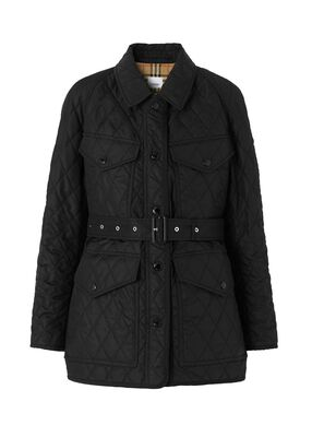 Diamond Quilted Nylon Canvas Field Jacket