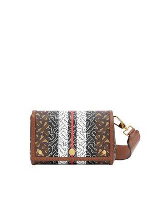 Small Monogram Stripe E-canvas Crossbody Bag