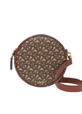 Monogram Print E-canvas Louise Bag