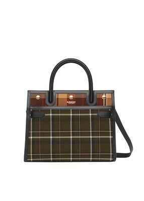 Small Tartan Wool Two-handle Title Bag