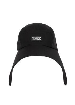 Logo Appliqué Cotton Twill Bonnet Cap