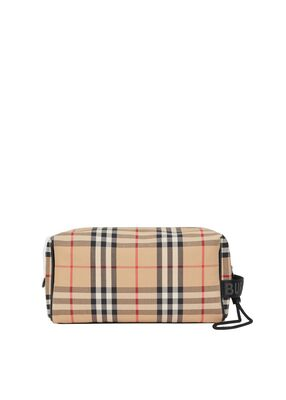 Vintage Check Travel Pouch