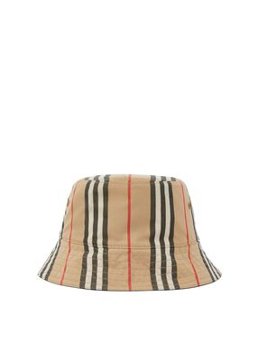 Reversible Icon Stripe Cotton Bucket Hat