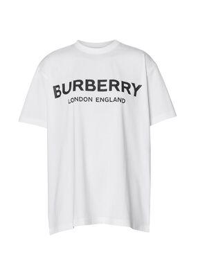 Logo Print Cotton Oversized T-shirt