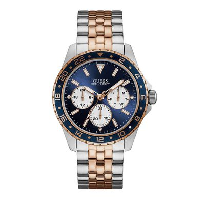 Gents Silver and Rose Gold Watch