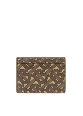 Monogram Print E-canvas Card Case