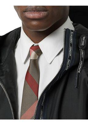 Classic Cut Oversized Check Silk Tie, , hi-res