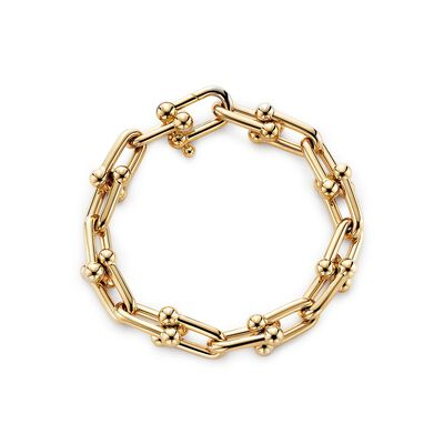 Tiffany City HardWear link bracelet in 18k gold, medium