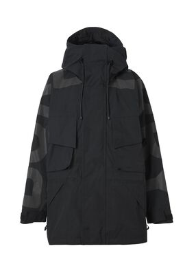 Logo Print Nylon Hooded Jacket