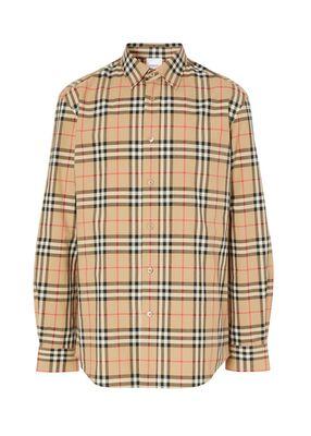 Logo Appliqué Vintage Check Cotton Shirt