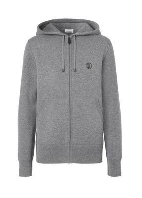 Monogram Motif Cashmere Blend Hooded Top