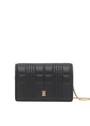 Quilted Lambskin Card Case with Detachable Strap, , hi-res