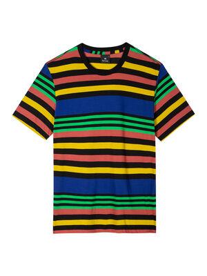 Men's Multi-Stripe Cotton T-Shirt