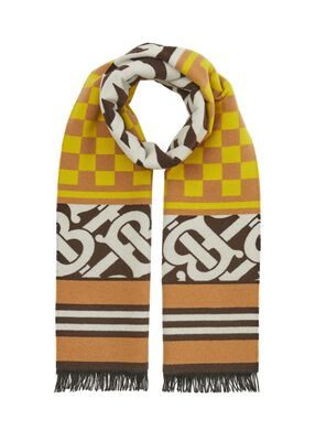 Montage Regenerated Cashmere Wool Jacquard Scarf