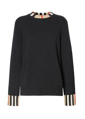 Icon Stripe Trim Cashmere Sweater