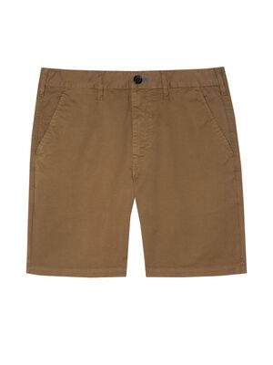 Men's Dark Khaki Garment-Dyed Stretch Shorts
