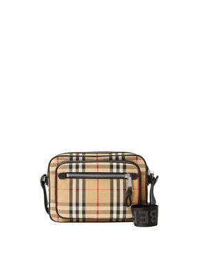 Vintage Check and Leather Crossbody Bag