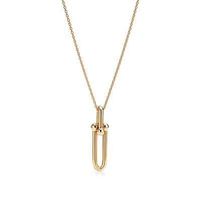 Tiffany City HardWear link pendant in 18k gold
