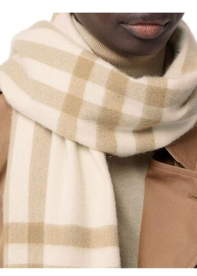 The Classic Check Cashmere Scarf, , hi-res