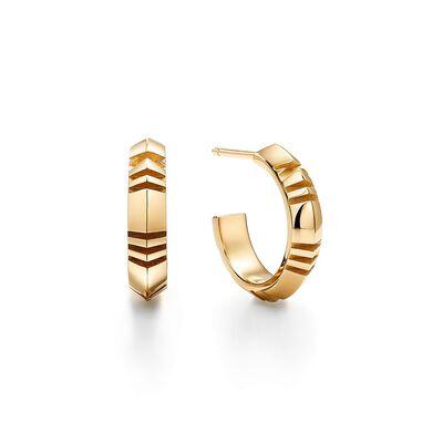 Atlas® X Hoop Earrings in Yellow Gold, Small