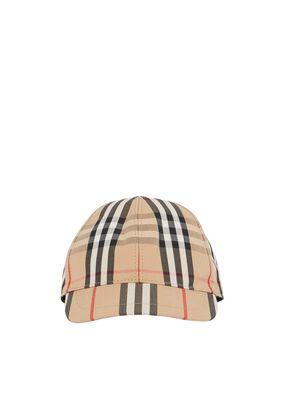 Vintage Check and Icon Stripe Baseball Cap