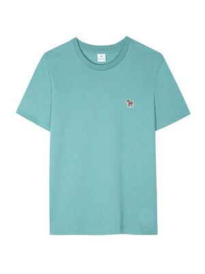 Women's Turquoise Zebra Logo Organic Cotton T-Shirt