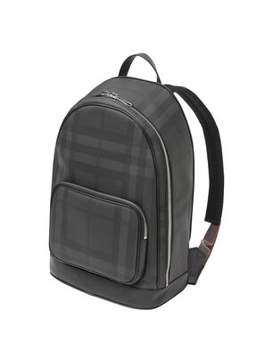 London Check and Leather Backpack, , hi-res
