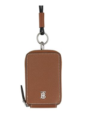 Grainy Leather Card Case Lanyard, , hi-res