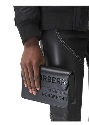 Horseferry Print Leather Crossbody Bag, , hi-res