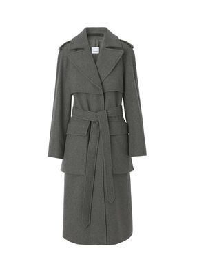 Pocket Detail Recycled Cashmere Trench Coat
