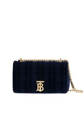 Small Quilted Velvet Lola Bag