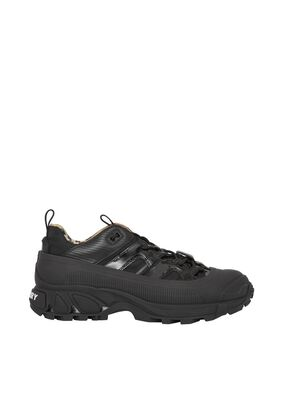 Nylon and Patent Leather Arthur Sneakers