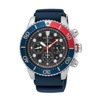 Mens Padi Prospex Chronograph Blue Silicone Divers Watch
