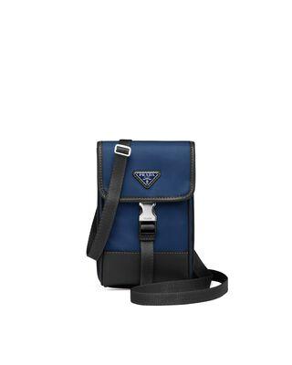 Nylon and Saffiano Leather Smartphone Case