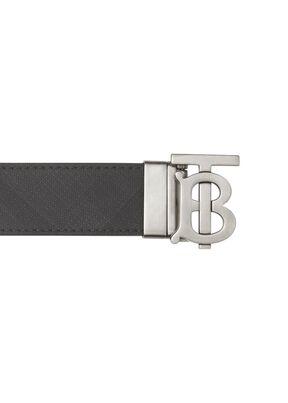 Reversible Monogram Motif London Check Belt, , hi-res