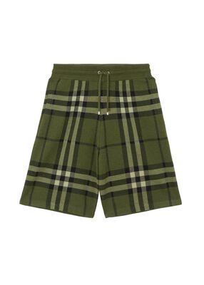 Check Silk Wool Jacquard Shorts