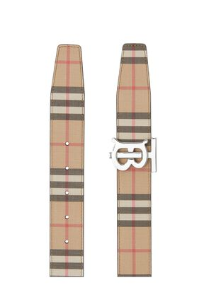 Reversible Monogram Motif Vintage Check Belt, , hi-res