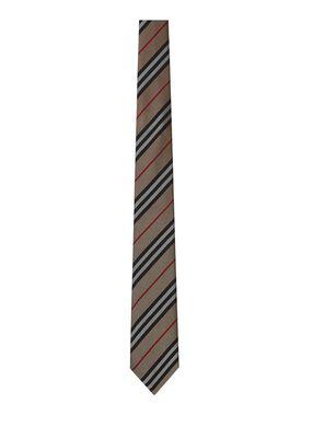 Classic Cut Icon Stripe Silk Tie