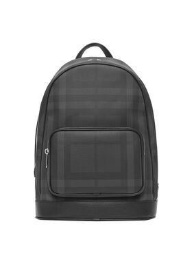 London Check and Leather Backpack