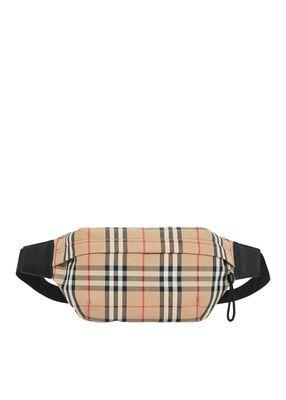 Medium Vintage Check Bonded Cotton Bum Bag