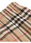 Vintage Check Cotton Pleated Skirt, , hi-res