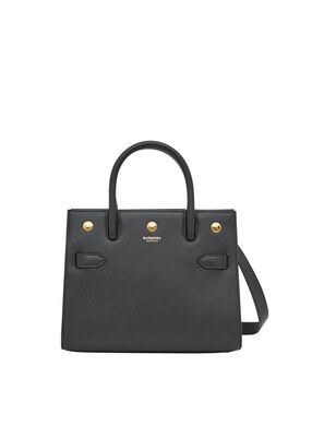 Mini Leather Two-handle Title Bag