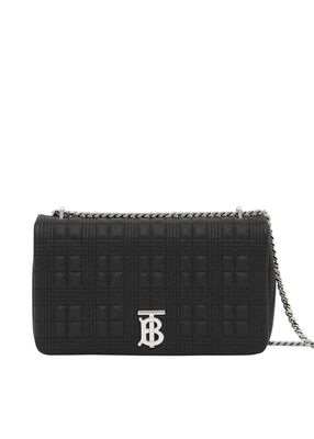 Medium Quilted Grainy Leather Lola Bag