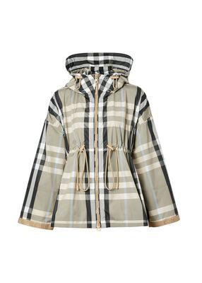 Check Lightweight Hooded Jacket