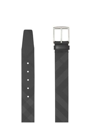 London Check and Leather Belt, , hi-res