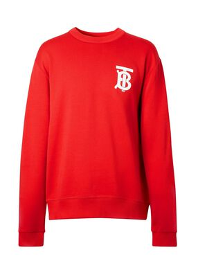 Monogram Motif Cotton Sweatshirt