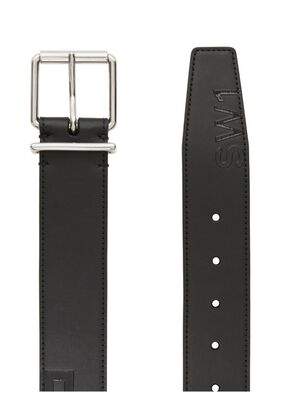 Horseferry Print Leather Belt, , hi-res