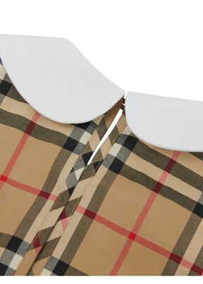 Monogram Motif Vintage Check Panel Cotton T-shirt, , hi-res