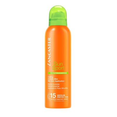 Sun Sport Cooling Invisible Mist Wet Skin Application SPF15