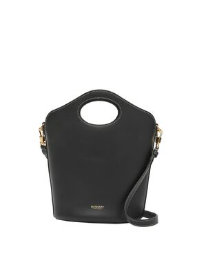 Small Leather Pocket Bucket Bag